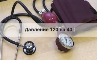 Артериальное давление 120 на 40