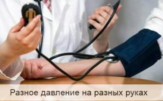 Артериальное давление на руках