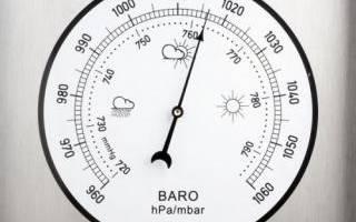 Атмосферное давление выше зимой или летом